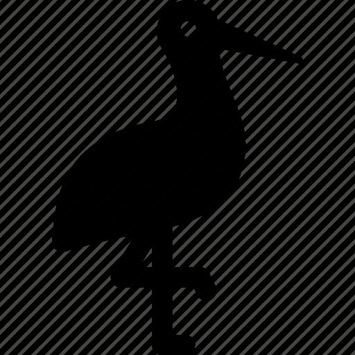 egret, heron, stork, wading bird icon