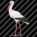 crane, gruidae, long-legged bird, stork, wading bird icon