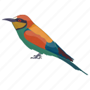 bee-eater, bird, colorful bird, meropidae, rainbow bee-eater icon