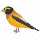 american bird, american goldfinch, finch family, male bird, spinus tristis icon