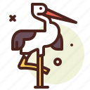 animal, stork, vertebrates, zoo icon