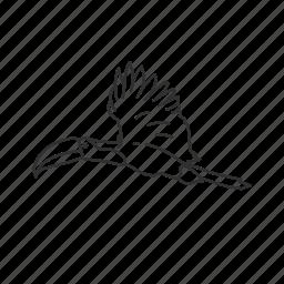 bird, exotic bird, flying, large beak, toucan icon