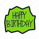 birthday, decorhappy, gift, message, party icon