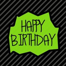 birthday, decorhappy, gift, message, party icon