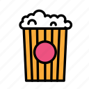 birthday, decorpopcorn, gift, party icon