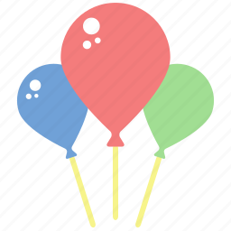 balloon, birthday, celebrate, congratulations, fly, party icon