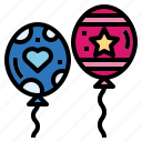 balloon, birthday, decoration, party icon