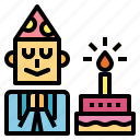 birthday, entertainment, party, wish icon