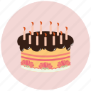 birthday, cake, candle, celebrate, food, holiday icon