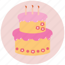 birthday, cake, celebrating, food, holiday icon