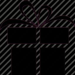 birthday, bow, gift, giftbox, present, ribbon icon