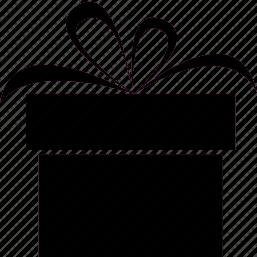 Birthday, bow, box, gift, present, ribbon icon