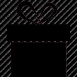 birthday, bow, box, gift, present icon