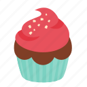 birthday, chocolate, cupcake, dessert, rasberry, sweet icon