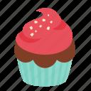 birthday, chocolate, cupcake, dessert, rasberry, sweet