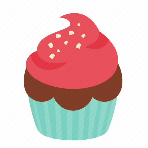 birthday, chocolate, cupcake, dessert, rasberry, sweet icon