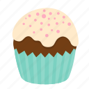 birthday, chocolate, cupcake, dessert, sweet icon