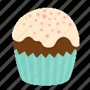 birthday, chocolate, cupcake, dessert, sweet