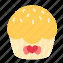 birthday, crumle, cupcake, dessert, sweet, vanilla icon