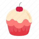 birthday, cupcake, dessert, sweet icon