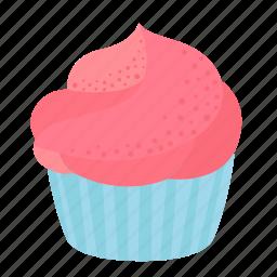 birthday, cupcake, dessert, sweet icon
