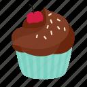 dessert, crumble, birthday, sweet, cupcake, chocolate