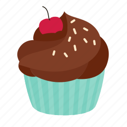 birthday, chocolate, crumble, cupcake, dessert, sweet icon