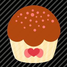 birthday, chocolate, cupcake, dessert, sweet icon
