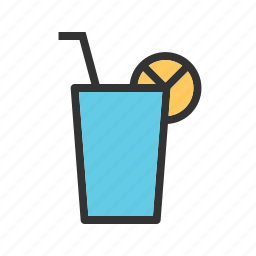 beach, cocktail, drink, glass, juice, lemon juice, summer icon