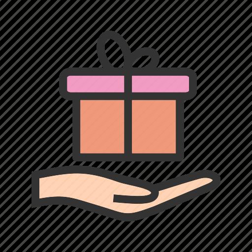 birthday, bow, box, decoration, gift, ribbon, surprise icon