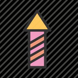 birthday, card, cute, fun, happy, party, rocket icon