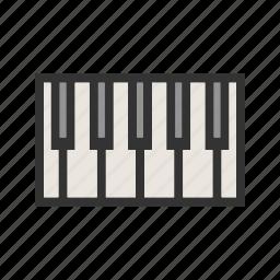 birthday, key, music, party, piano, play, sound icon