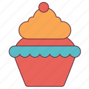 birthday, cake, cup, cupcake, ice cream, muffins icon
