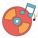 disc, dj, music, player, sound, track icon