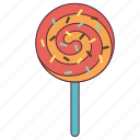 chocolate, colorfull lolipop, gift, lolipop, lolipop for kids icon