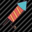 celebration, crackers, diwali crackers, rocket, rocket launchers icon