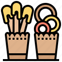 appetizer, chips, crackers, food, snacks icon