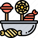 candy, bonbon, lollipop, sweet, confectionary icon