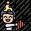 celebration, confetti, popper, fun, party