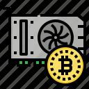 bitcoin, graphic, farm, minning, card icon