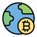 bitcoin, cryptocurrency, earth, currency, money, finance