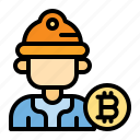 bitcoin, miner, cryptocurrency, money, finance, business