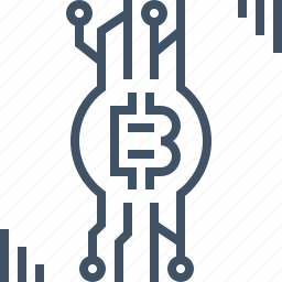 bitcoin, coin, currency, digital, online, payment, security icon