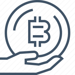 accepted, bitcoin, currency, digital, money, online, payment icon