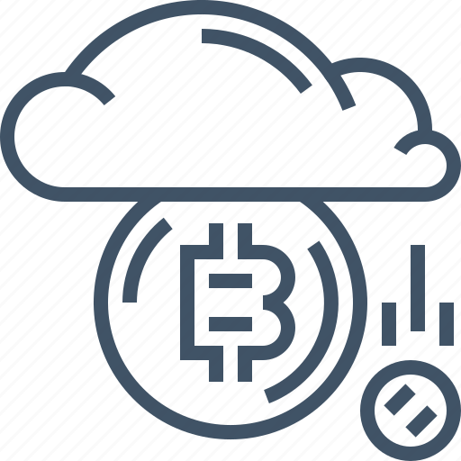 bitcoin, cloud, coin, currency, digital, online, payment icon