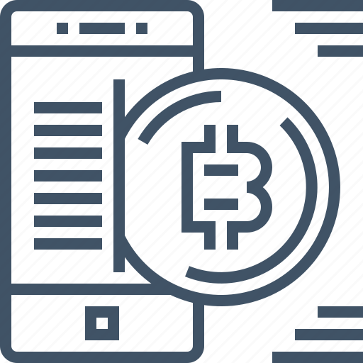 bitcoin, coin, currency, digital, mobile, payment, smartphone icon