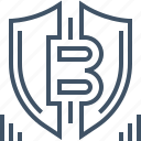 bitcoin, currency, digital, money, payment, protection, security icon