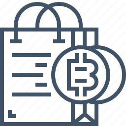 bag, bitcoin, currency, digital, online, payment, shopping icon
