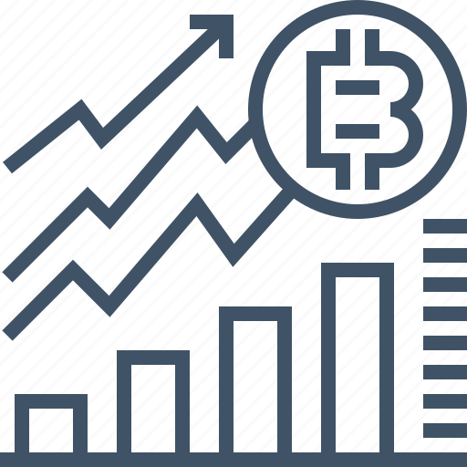 bitcoin, coin, currency, digital, online, payment, statistic icon