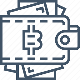 bitcoin, currency, digital, online, payment, security, wallet icon